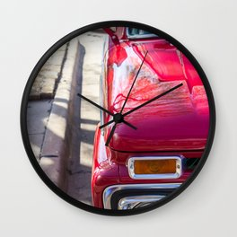 Red Truck Wall Clock