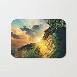 Beach - Waves - Sunset - Clouds - Sundown Bath Mat