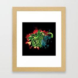 Brickthulhu Framed Art Print
