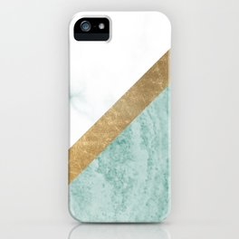 Marble luxe - jade teal iPhone Case