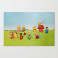 peanuts Canvas Prints featuring Real Peanuts by Phil Jones