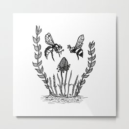 Beeloved Metal Print