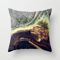 sonic Throw Pillows featuring Sonic Reflections by KunstFabrik_StaticMovement Manu Jobst