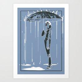 Manchester Rain Art Print