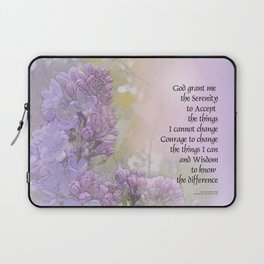 Serenity Prayer Lilacs Laptop Sleeve