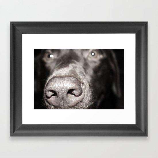 Dog Nose Framed Art Print