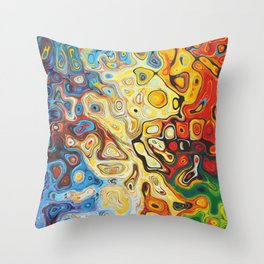 Colourful Abstract Pattern Throw Pillow
