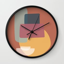 Abstract Kitchen Cupboard Wall Clock