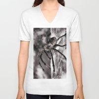 creepy V-neck T-shirts featuring Creepy! by IowaShots