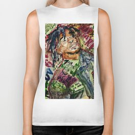 colorful hiphop,poster,lil,rap,artist,music,lyrics,colourful,poster,cool,dope,print,uzi Biker Tank