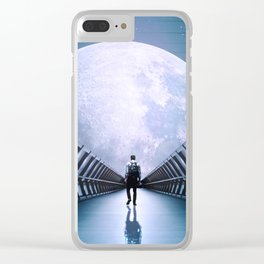 Space Road Clear iPhone Case