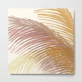 Autumn Palms / Tropical Plant Design Metal Print