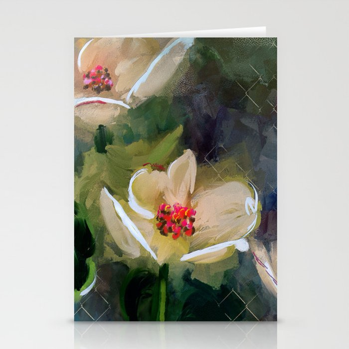 Night Blooming Dogwood Stationery Cards