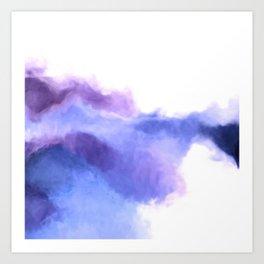 Purple Sky, White Light - abstract Art Print