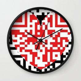 QR Love Wall Clock