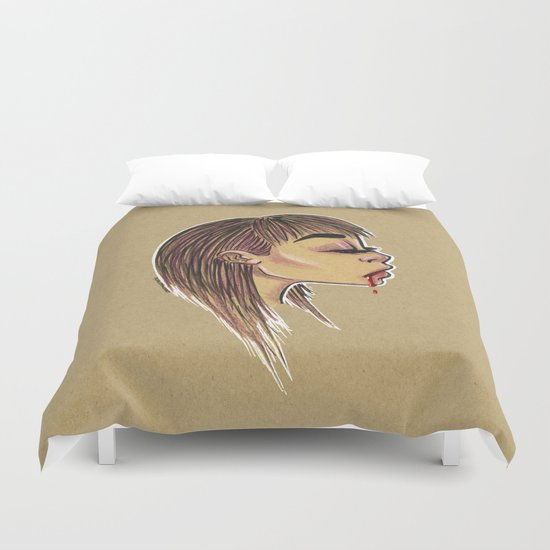 Mary needs blood Duvet Cover