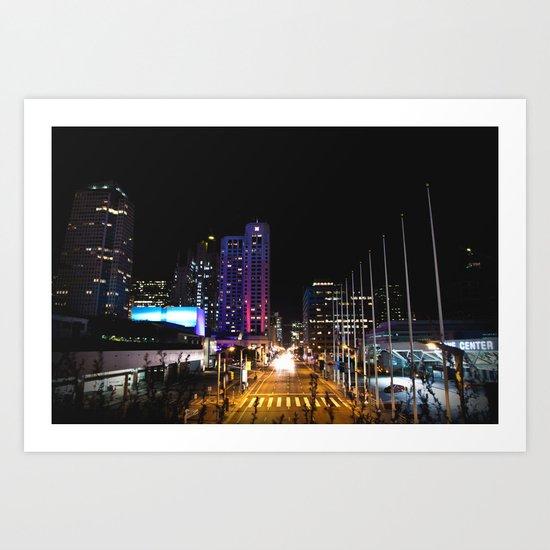 All Night Long Art Print