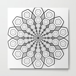 Hexa Mandala Metal Print