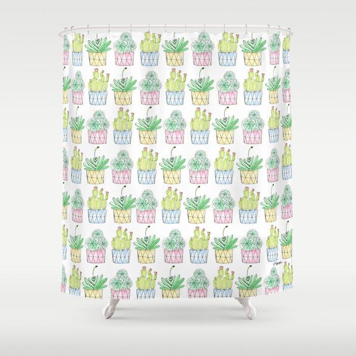Succulent Trio Shower Curtain