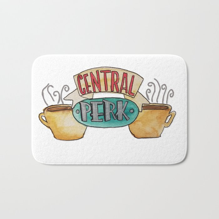 Central Perk from Friends TV Show Bath Mat by cococreatess