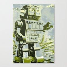 Robot Wars Pop Art Canvas Print