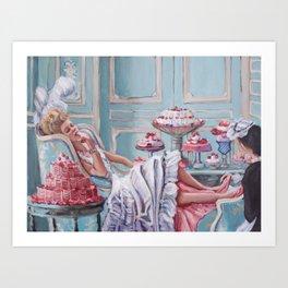 Marie Antoinette Eats Cake Art Print