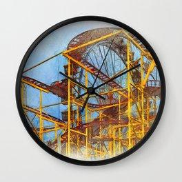 Munich Beer Festival - Roller Coaster & Ferris Wheel Wall Clock