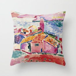 View of Collioure - Henri Matisse - Exhibition Poster Throw Pillow