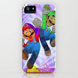 Pop Art Mario Brothers iPhone Case