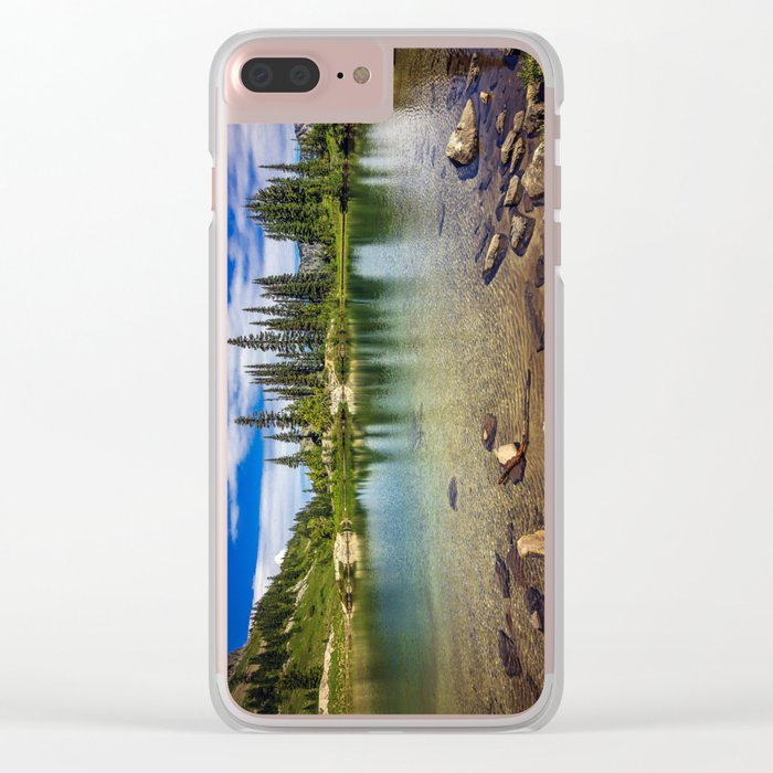 Mountain Lake in the Mt Rainier National Park Clear iPhone Case