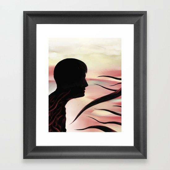 Between monsters Framed Art Print