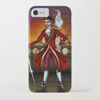 captain hook iPhone & iPod Cases featuring Captain Hook by Callie Clara