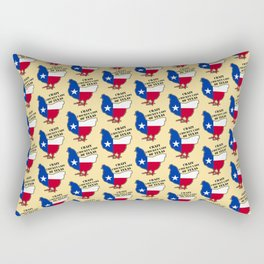 Crazy chiken lady of Texas Rectangular Pillow