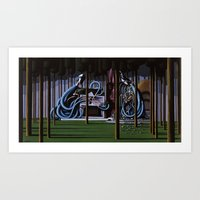 The Gateway to Her Art Print