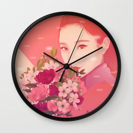 FLOWERFUL Wall Clock