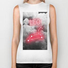 Neon Leo Constellation Biker Tank