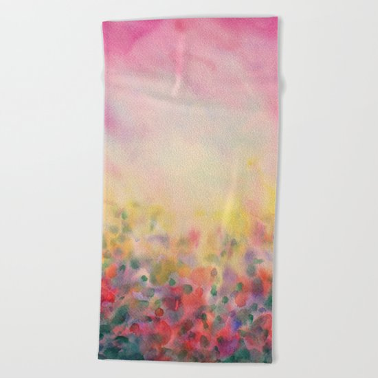 Pink Mystical Spring Beach Towel