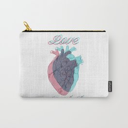 Love is shit Carry-All Pouch