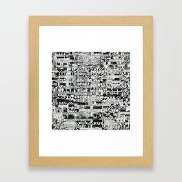 Confused Images Behind the Interface (P/D3 Glitch Collage Studies) Framed Art Print