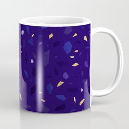 Blue Terrazzo Pattern Coffee Mug
