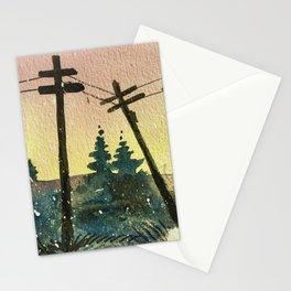 Birds on Wire Stationery Cards
