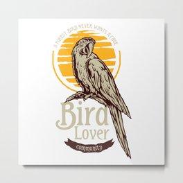 Tropical Bird Lover Metal Print