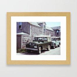 Nantucket Land Rover Framed Art Print