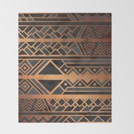Black & Gold 028 Throw Blanket