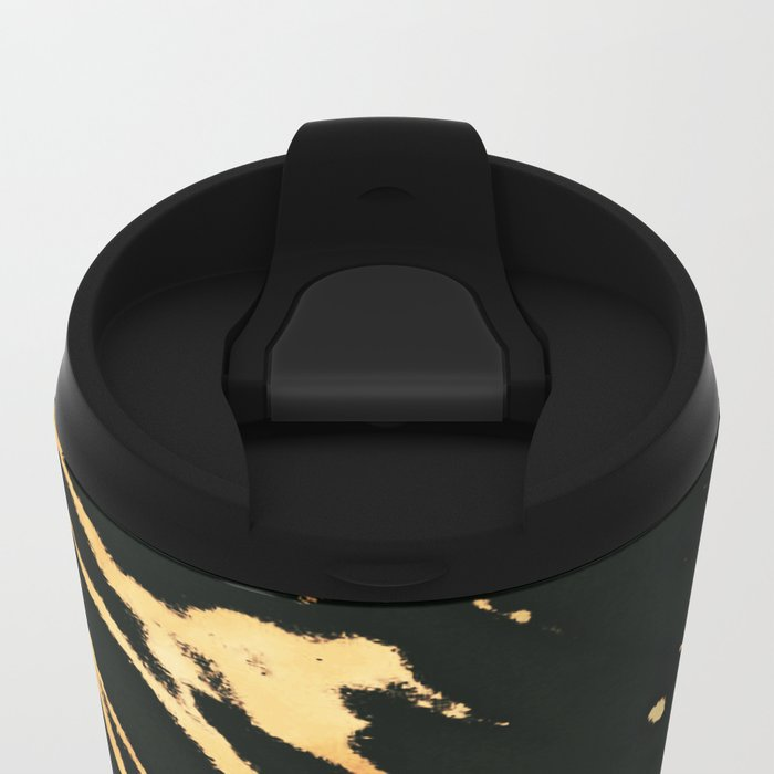Black Copper Bronze Marble Metal Travel Mug