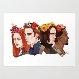 CATWS Floral Crowns Art Print