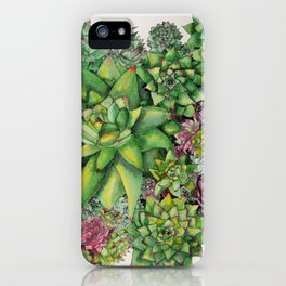 Watercolour Succulents iPhone Case