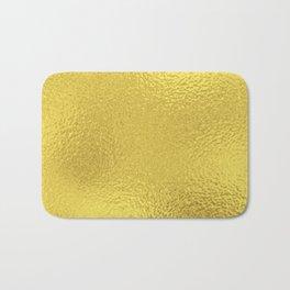 Simply Metallic in Yellow Gold Bath Mat