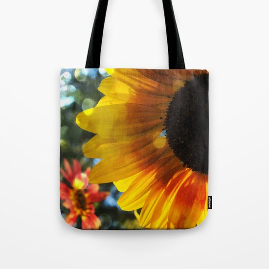 Golden Sunflower and Friend Tote Bag