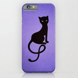Gracious Evil Black Cat iPhone Case